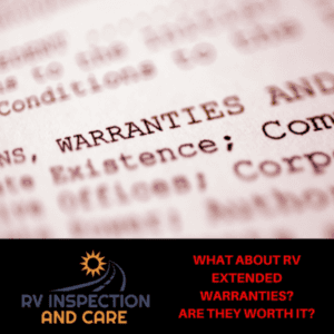RV extended warranties