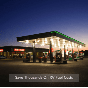 RV fuel station discount card saves money