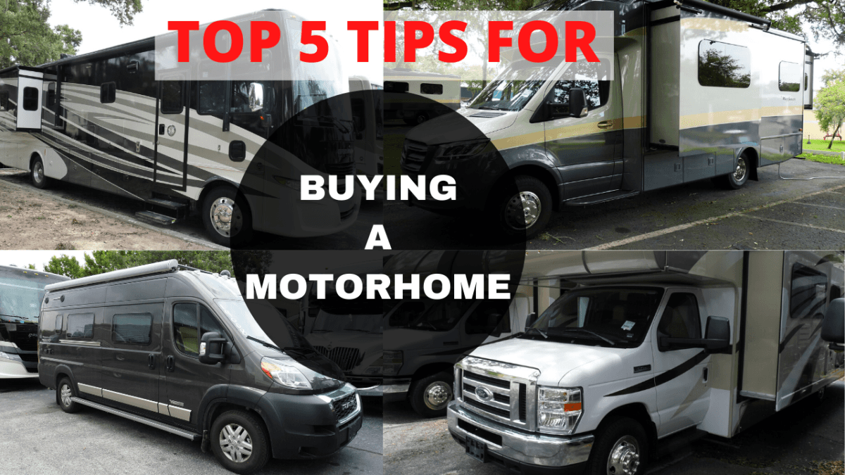 The top 5 tips for buying a motorhome