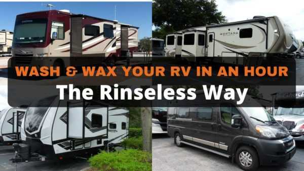 RV wash and wax the rinseless way video