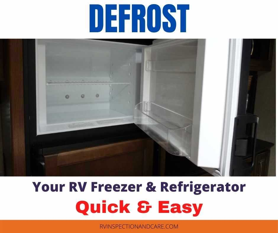 How To Defrost An RV Refrigerator The Easy Way